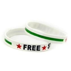 Free Syria armbandje (wit)